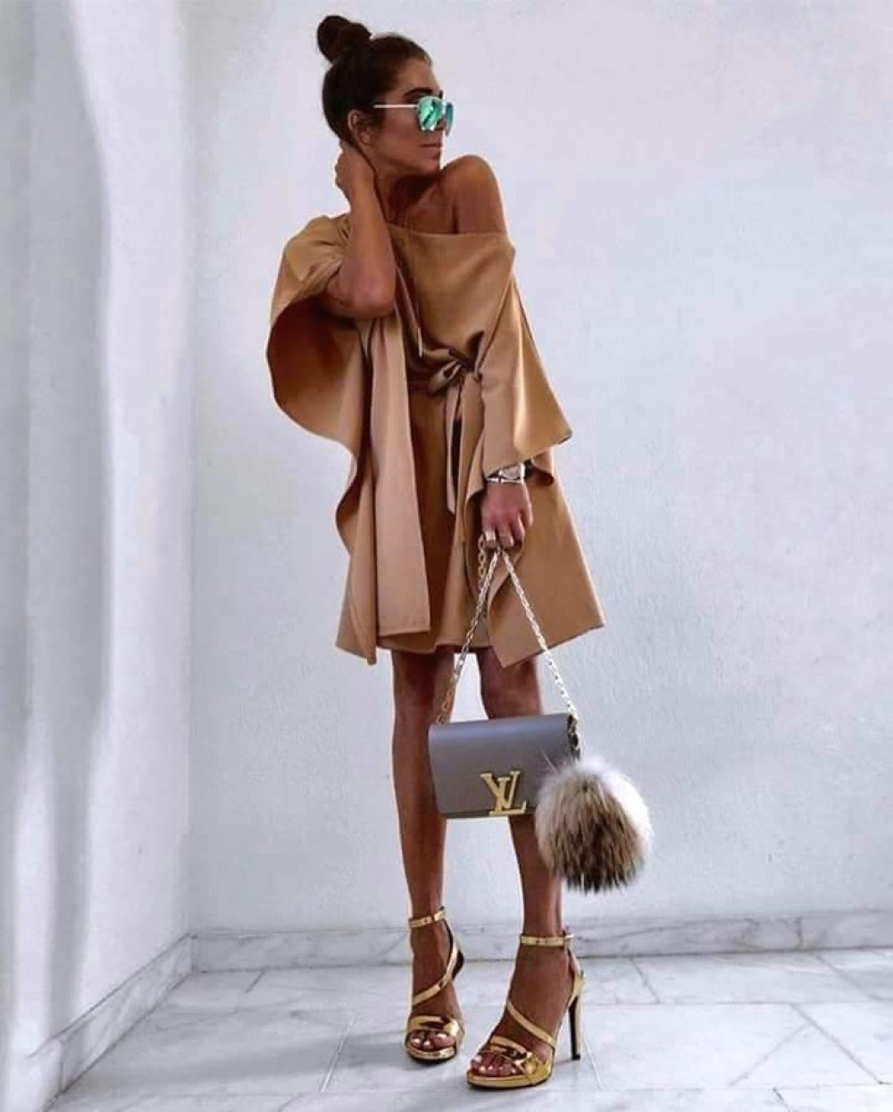 Sukienka Kimono Camel