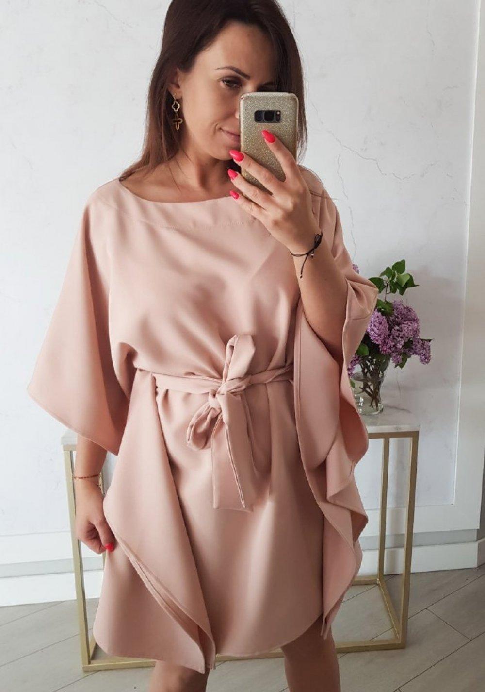 Sukienka Kimono Brudny Róż