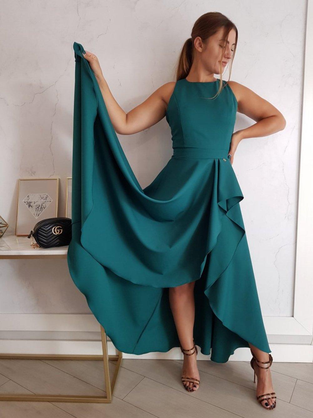 Sukienka Makao Butelkowa Zieleń
