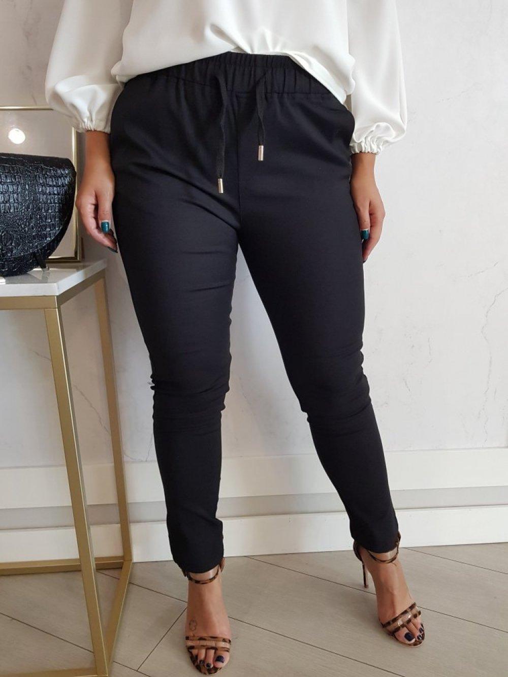 Spodnie Fresia z gumką Czarne