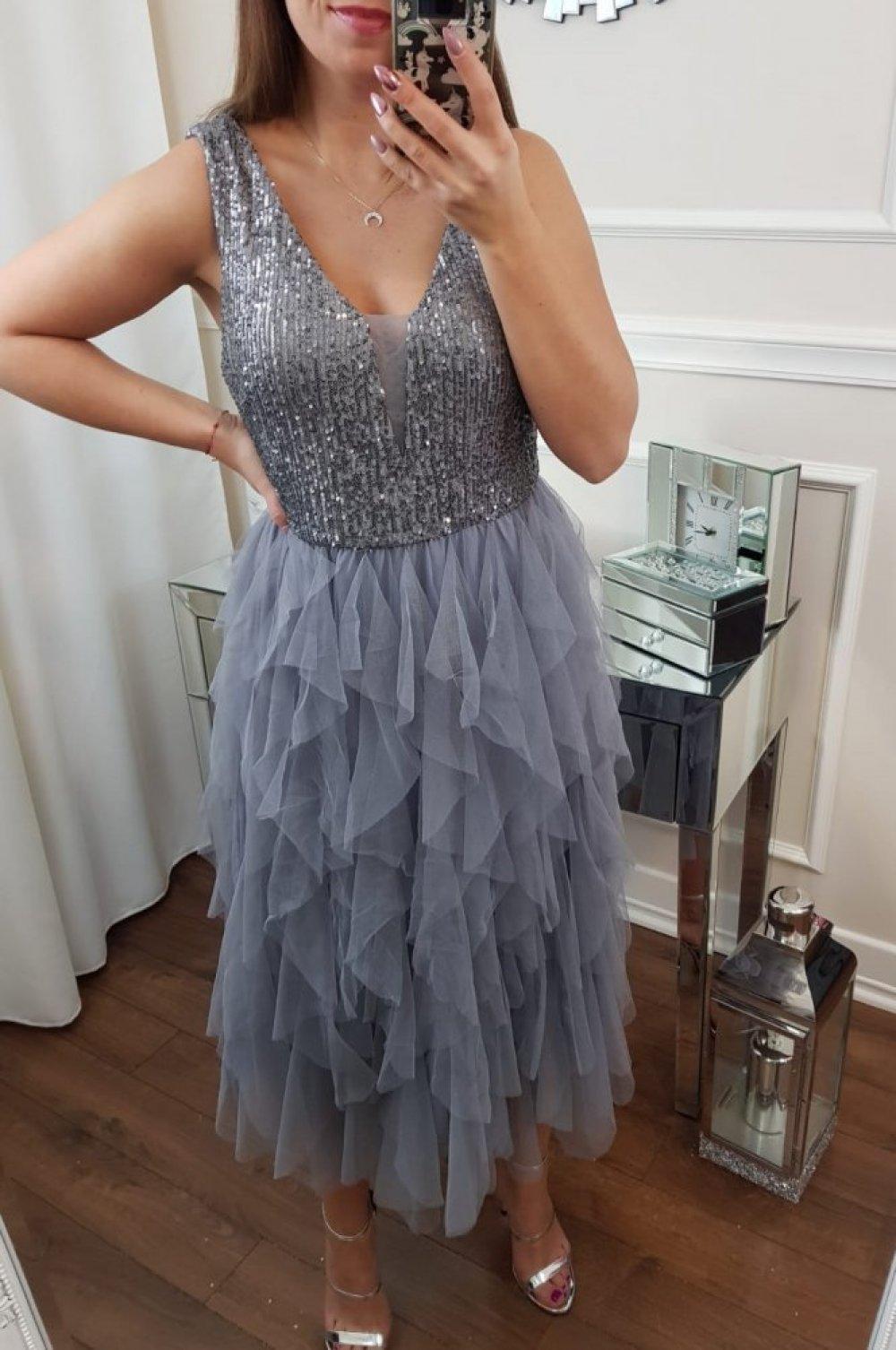 Sukienka Shine Szara