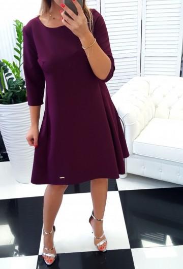 Sukienka Trapez Wino