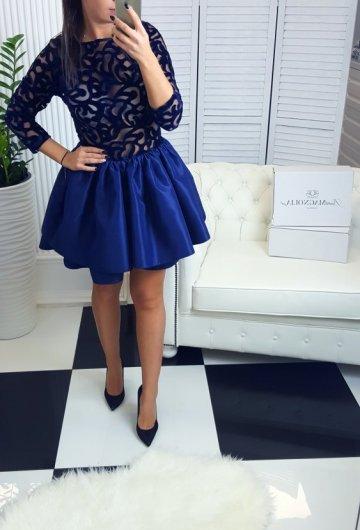 Sukienka Verona Krótka Granat