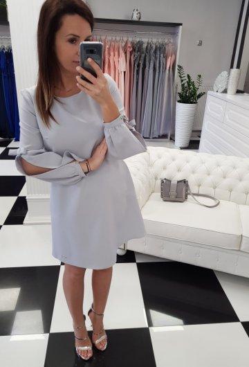 Sukienka Amanda Szara 2