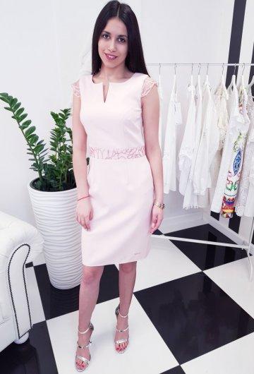Sukienka Laura Różowa 1