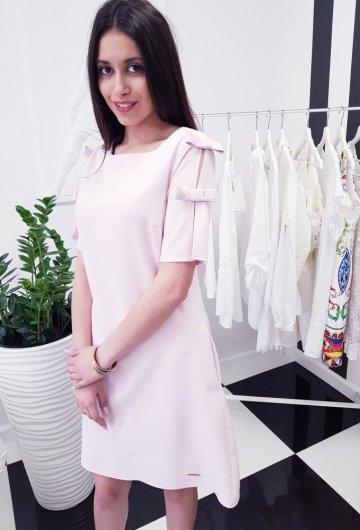 Sukienka Kokardka Liliowa 1