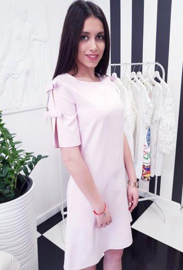 Sukienka Kokardka Liliowa 3