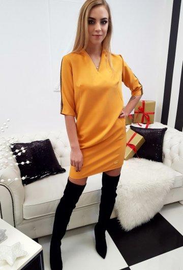 Sukienka Lampas Musztardowa 3