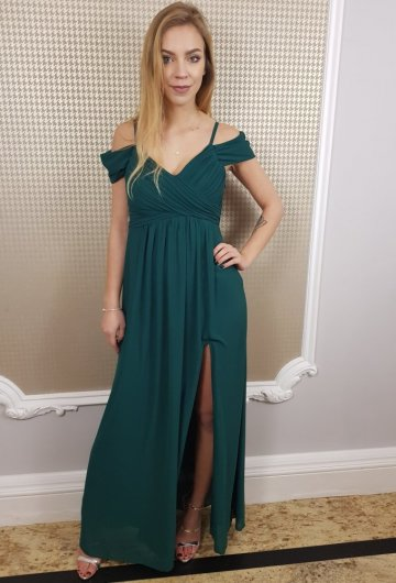 Sukienka Dolores Butelkowa Zieleń