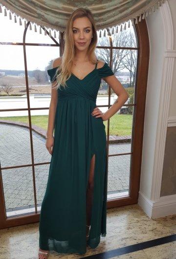 Sukienka Dolores Butelkowa Zieleń 1