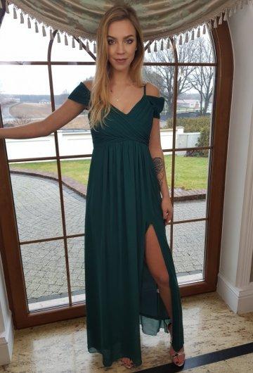 Sukienka Dolores Butelkowa Zieleń 2