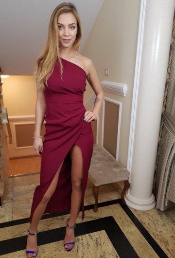 Sukienka Asymetria Bordo