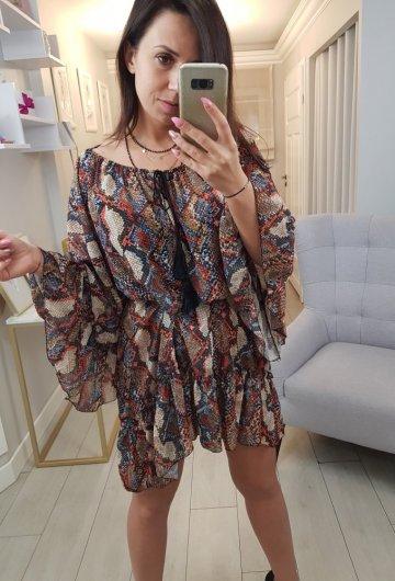 Sukienka Wąż Pomarańczowa
