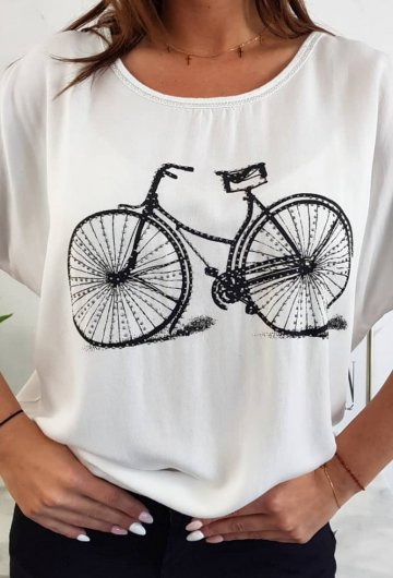 Bluzka Rower Biała