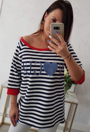 Bluzka Paski Vogue Niebieska