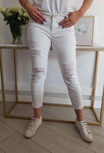 Spodnie Boyfriend Białe