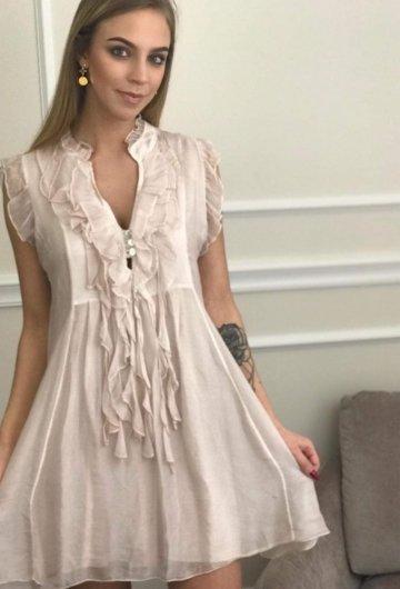 Sukienka Trend Pudrowy Róż