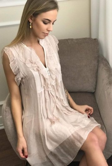 Sukienka Trend Pudrowy Róż 4
