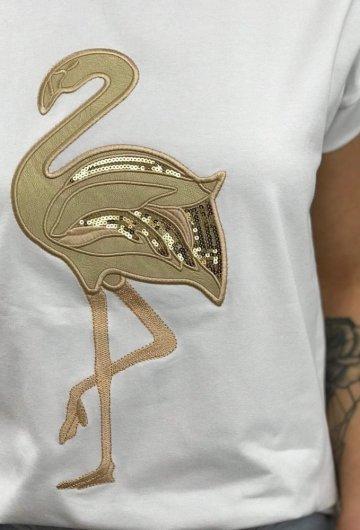 T-shirt Złoty Flaming + Size 2
