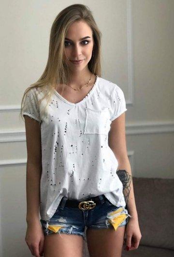 T-shirt Ripped Biały
