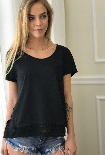 T-shirt Pocket Czarny 1