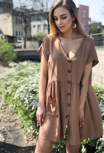 Sukienka Safari Camel