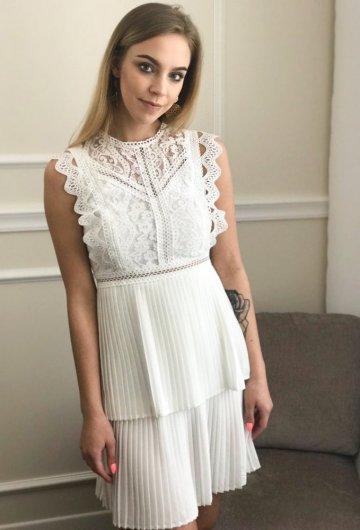 Sukienka Allyson Plisowana