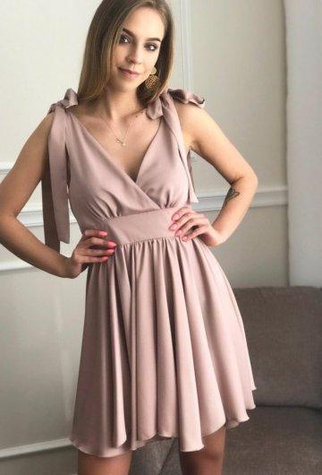 Sukienka Emo Beżowa