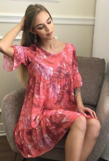 Sukienka Liście 3