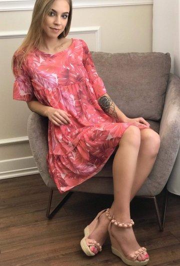 Sukienka Liście
