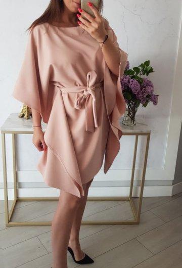 Sukienka Kimono Brudny Róż 2