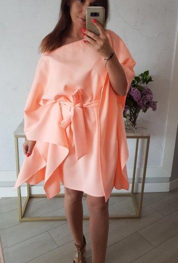 Sukienka Kimono Opalizująca Morela 1
