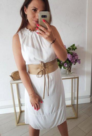 Sukienka Collar Biała