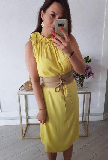 Sukienka Collar Żółta