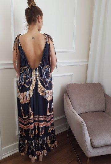 Sukienka Maxi Łańcuchy