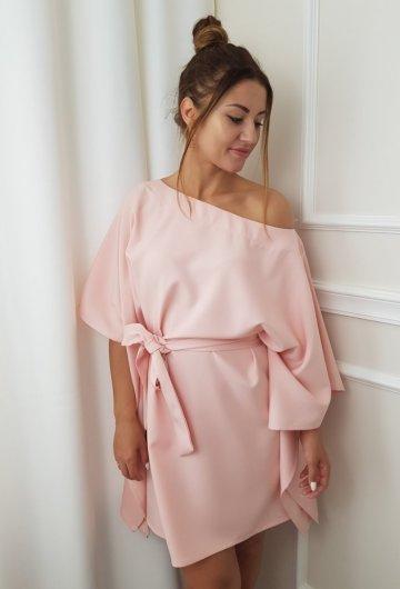 Sukienka Kimono Pudrowy Róż