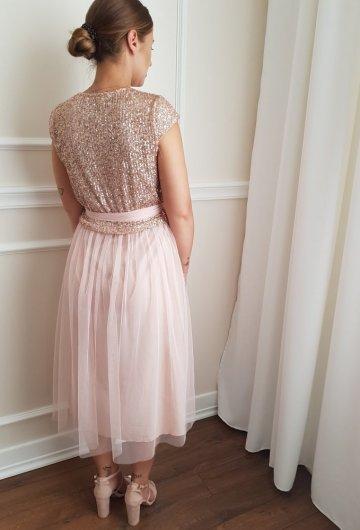 Sukienka Cekiny Tiulowa 1