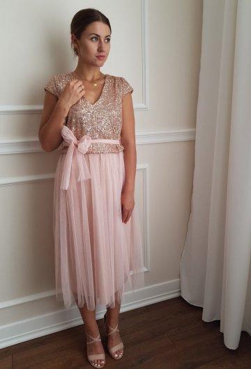 Sukienka Cekiny Tiulowa 2