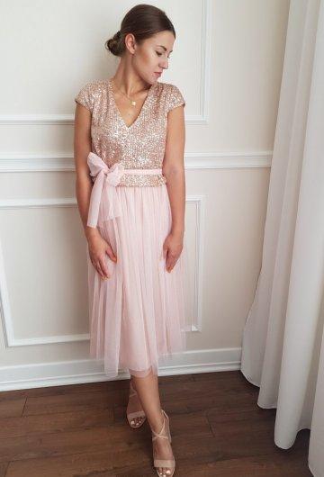 Sukienka Cekiny Tiulowa 3