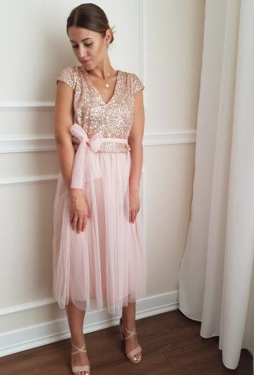 Sukienka Cekiny Tiulowa 4