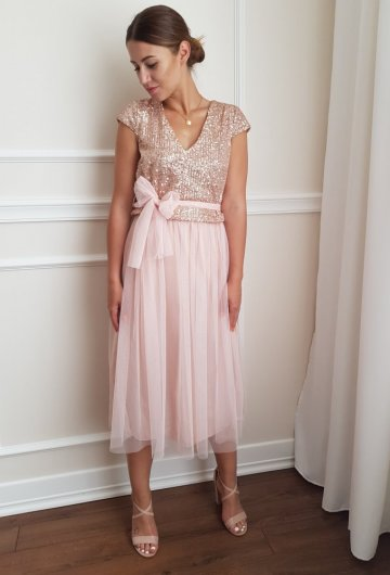 Sukienka Cekiny Tiulowa 5