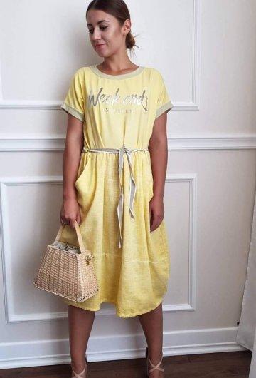 Sukienka Weekend Żółta