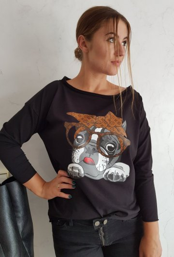 Bluzka Dog Czarna