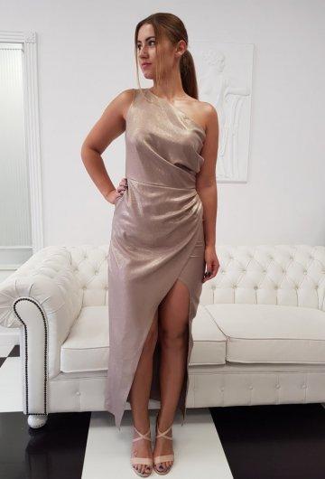 Sukienka Asymetria Złota