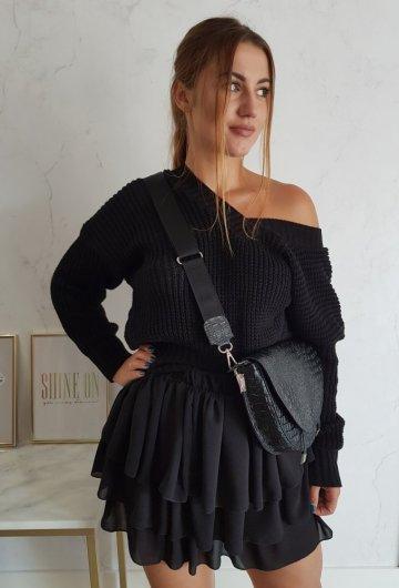 Spódniczka Czarna Falbany 4