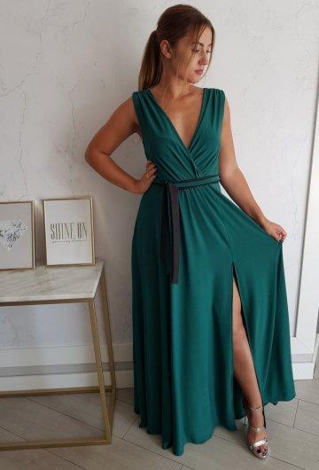 Sukienka Salma Zielona 4