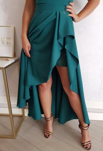 Sukienka Makao Butelkowa Zieleń 1