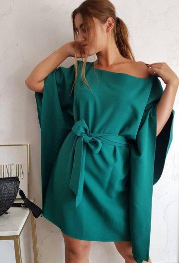 Sukienka Kimono Butelkowa Zieleń