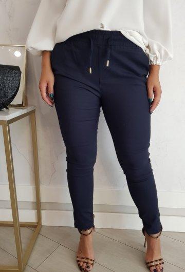 Spodnie Fresia z gumką Granatowe