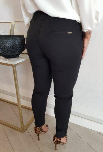 Spodnie Fresia z gumką Czarne 1